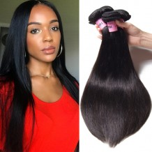 UNice Hair Icenu Series 4 Bundles Peruvian Straight Virgin Human Hair Extensions