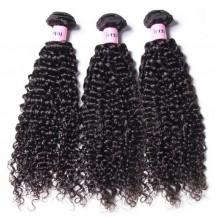 UNice Hair Icenu Series Malaysian Jerry Curly Hair Weave 3 Bundles