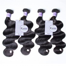 UNice Hair Kysiss Series 4pcs/pack Indian Body Wave Human Hair Extensions