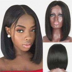 UNice Hair Bettyou Series Short Straight Lace Frontal Bob Wig 100% Human Hair Without Bangs