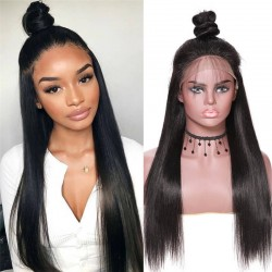 UNice Hair Bettyou Series Virgin Human Hair Soft Long Straight 360 Lace Front Wig 12-28 Inches