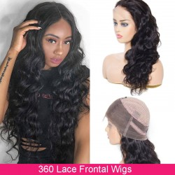 UNice Hair Bettyou Wig Series Human Hair Body Wave 360 Lace Frontal Wig Density 180% And 150%