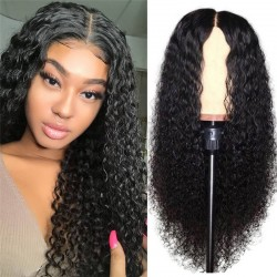UNice Hair Bettyou Series Brazilian Natural Long Curly Lace Front Wig 100% Human Hair