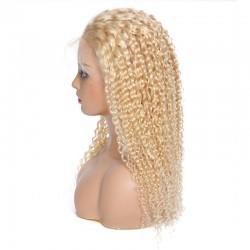 UNice Hair Bettyou Series Comfortable 613 Color Blonde Lace Frontal Curly Wigs