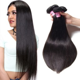 UNice Hair Icenu Series Human Virgin Straight Brazilian Hair 3 Bundles