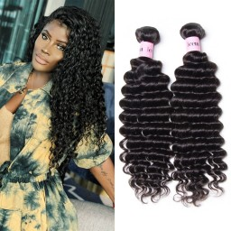 UNice Hair Icenu Series Peruvian Human Virgin Hair Deep Wave 3Pcs/pack