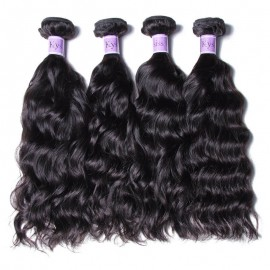 UNice Hair Kysiss Series Brazilian 4pcs Natural Wave Virgin Hair With Closure