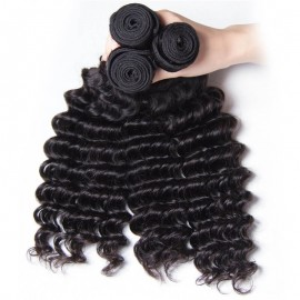 UNice Hair Kysiss Series 3pcs/pack Peruvian Deep Human Hair Weaves