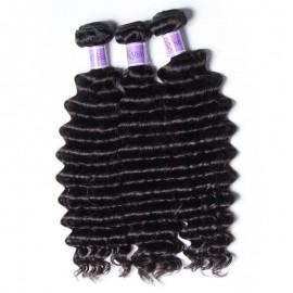 UNice-Kysiss 3 Bundles Indian Deep Wave Human Hair