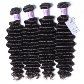 UNice-Kysiss Brazilian Deep Wave Hair Extensions Human Hair Bundles 4pcs/Lot