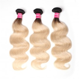UNice 1B/613 Ombre Hair Weave 3 Pcs Body Wave 100% Virgin Human Hair