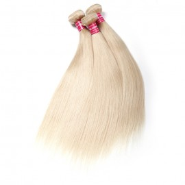 4PCS UNice 613 Blonde Hair Weave Bundles 16-24 Inch Straight Virgin Human Hair