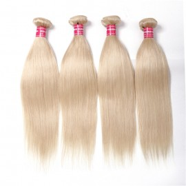 4PCS UNice 613 Blonde Hair Weave Bundle Straight Virgin Human Hair