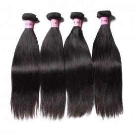 UNice Hair Icenu Series 4 Bundles Peruvian Straight Virgin Human Hair Extensions