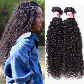 UNice Hair Icenu Series Malaysian Jerry Curly Human Virgin Hair 4 Bundles