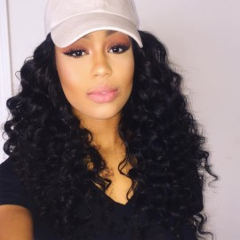 UNice 3 Bundles Virgin Deep Wave Human Hair With Lace Closure
