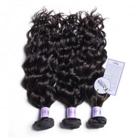 UNice Hair Kysiss Series 8A Grade Natural Wave Weft 3 Bundles Peruvian