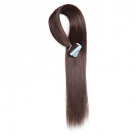 UNice 20pcs 50g Straight Tape In Hair Extensions #2 Dark Brown 100% Virgin Hair