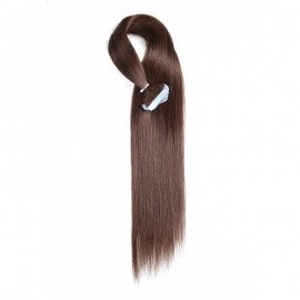 UNice 20pcs 50g Straight Tape In Hair Extensions #4 Medium Brown 100% Virgin Hair