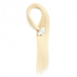 UNice 20pcs 50g Straight Tape In Hair Extensions #613 Lightest Blonde 100% Virgin Hair