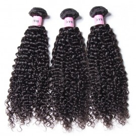 UNice Hair Icenu Series Malaysian Jerry Curly Hair Weave 3 Bundles