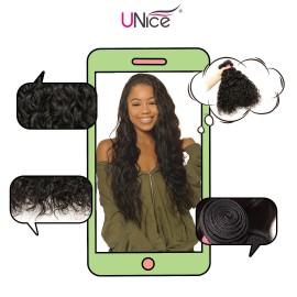 UNice Hair Icenu Series 3 Bundles Water Wave Virgin Human Hair
