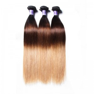 UNice Hair Kysiss Series Hair 3 Bundles Three Tone Ombre Straight Human Virgin Hair Weaving