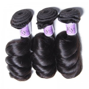 UNice Hair Kysiss Series Indian 8A Loose Wave Vrigin Hair 3 Pcs/lot