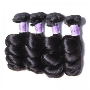UNice-Kysiss Peruvian Loose Wave Virgin Hair 4 Bundles 8A Products