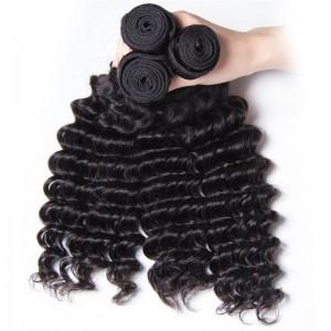 UNice Hair Kysiss Series 3pcs/pack Peruvian Deep Human Hair Weaves
