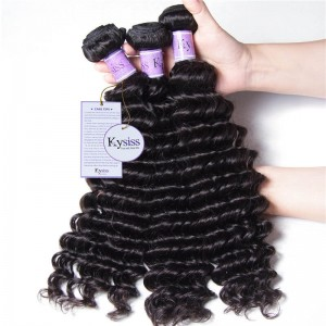 UNice Hair Kysiss Series 8A Grade Brazilian Deep Wave Product 3 Bundles Virgin Hair