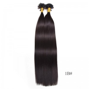 UNice 1g/s Color Straight Nail/U Tip Virgin Hair Extensions 100g