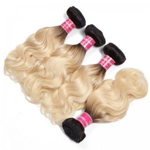 UNice 4 Bundles T1b/613 Ombre Blonde Hair 100% Virgin Human Hair Body Wave Hair Weave