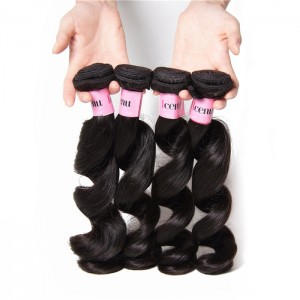 UNice Hair Icenu Series Brazilian Virgin Hair Loose Wave 4 Bundles