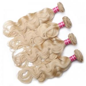 UNice Hair 613 Blonde Virgin Human Hair Wave 4 Bundles Body Wave Hair Weft