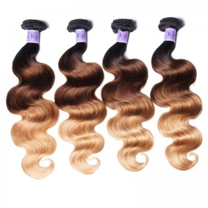UNice Hair Kysiss Series 4 Bundles T1B/4/27 Ombre Body Virgin Human Hair