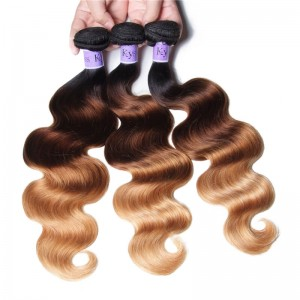 UNice Hair Kysiss Series 3 Bundles Three Tone Ombre Body Human Virgin Hair