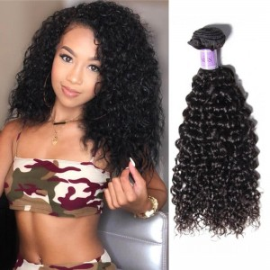 UNice-Kysiss 4 Bundles Brazilian Jerry Curly Human Virgin Hair ... 3efe3e15a5