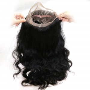 UNice Hair Body Wave 360 Lace Frontal 7A Unprocessed Virgin Hair Full Lace Frontal Closure