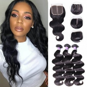 UNice Hair Kysiss Series Peruvian 3pcs Body Wave Human Hair