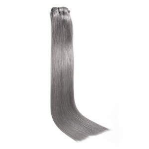 UNice 100g #80 Grey Clip In Hair Extensions Cheap Virgin Hair Extensions 8Pcs/set