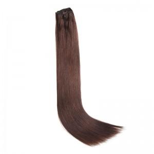 UNice 115g #2 Dark Brown Clip In Hair Extensions Virgin Hair 8Pcs/set