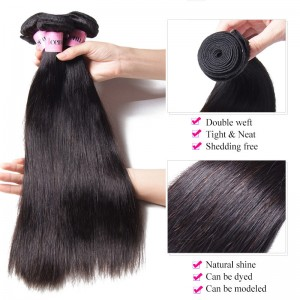 UNice Hair Icenu Series 13*4 Inch Transparent Lace Frontal With 8-30 Inch Straight Human Hair