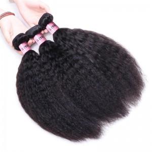 UNice Hair Icenu Series 100% Virgin Kinky Straight Hair Cheap Human Hair 3 Bundles