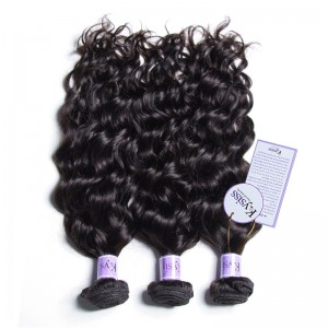 UNice Hair Kysiss Series 8A Grade Natural Wave Weft 3 Bundles Peruvian