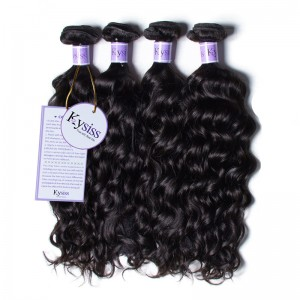 UNice-Kysiss 4 Bundles Unprocessed Peruvian Natural Wave
