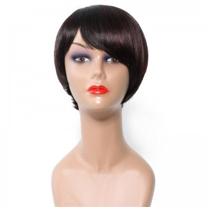 Nice Hair Bettyou Wig Serices Mixed Color Short Straight Human Hair Capless Wigs