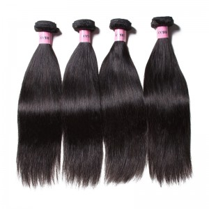 UNice Hair Icenu Series Straight Bundles With Transparent Closure 4 Bundles Hair Weave With 13*4 Inch Frontal