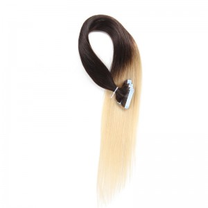UNice 20pcs 50g Straight Tape In Hair Extensions Ombre T2-613 100% Virgin Hair