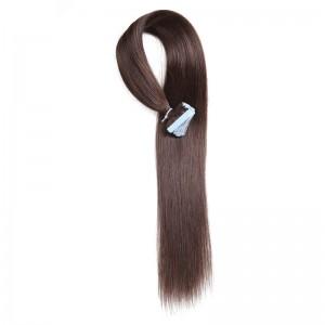 UNice 20pcs 50g Straight Tape In Hair Extensions #2 Dark Brown 100% Virgin Hair